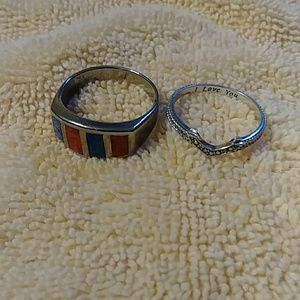 Two Woman's Rings Size 7